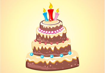 Chocolate Cake - vector #144819 gratis