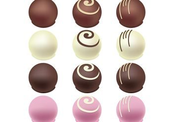 Chocolate Candy Vectors - Free vector #144829