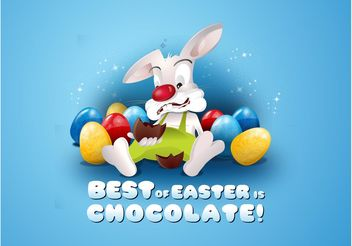 Easter Bunny Cartoon - Free vector #144979