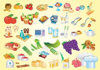 Cooking Vector Graphics - Free vector #144999