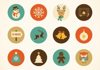 Free Hipster Christmas Vector Icons - Kostenloses vector #145059