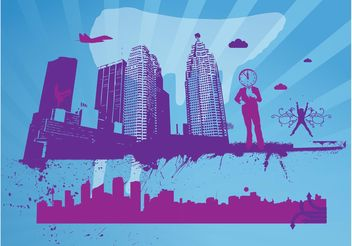 City Theme - vector gratuit #145149