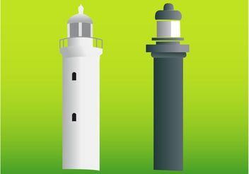 Lighthouses - vector gratuit #145279