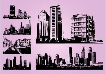 Cityscapes - Free vector #145299