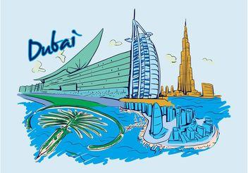 Dubai Vector - Free vector #145339