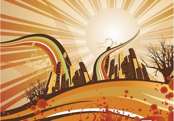 Autumn City Background - vector gratuit #145389
