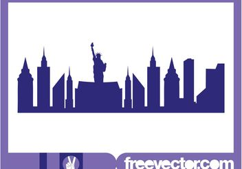 New York Skyline Graphics - Free vector #145449