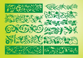Flower Borders - Free vector #145549