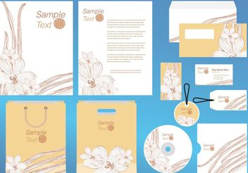 Vanilla Flower Company Profile Template Vector - бесплатный vector #145739