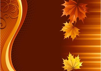 Autumn Leaves Background - vector gratuit #145749