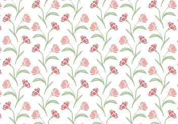 Wildflower Repeat Pattern - Free vector #145859