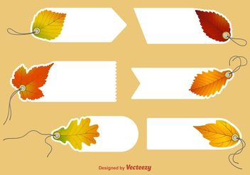 Autumn Blank Price Tag Vectors - Free vector #145889