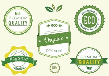 Free Natural Label Vector Set - Kostenloses vector #145909