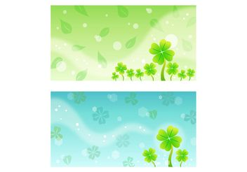 Clover Background Templates - Free vector #146019