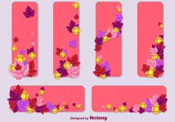 Summer - Spring Vector Card Templates - Free vector #146039