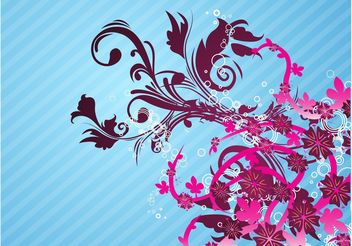 Pink Flowers Layout - vector gratuit #146099