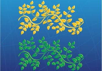 Stylized Plants Vectors - Free vector #146109