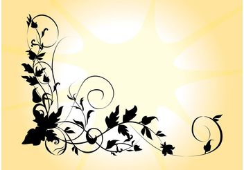 Silhouette Flower - Free vector #146149