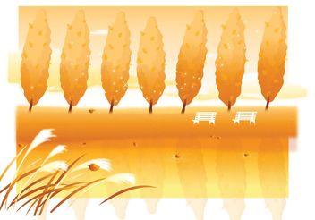 Autumn Landscape - Free vector #146209