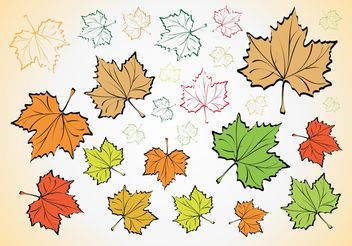 Leaves Vectors - Free vector #146309