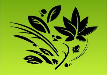 Stylized Leaves Composition - Free vector #146359