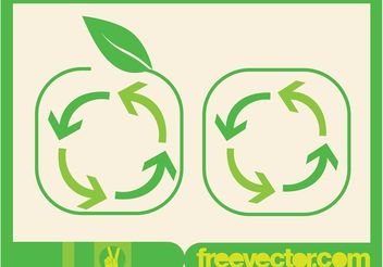Recycling Arrows Symbol - vector gratuit #146419