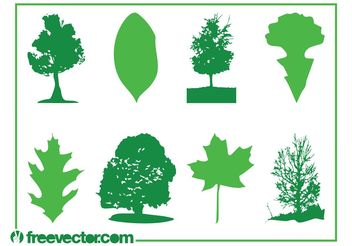 Leaves And Trees - vector gratuit #146429