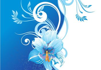 Background With Blue Flowers - vector gratuit(e) #146479