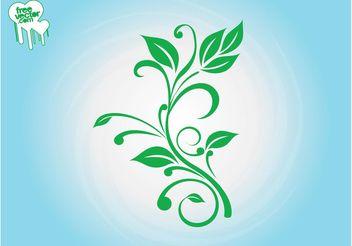 Fresh Plant Silhouette - Free vector #146509