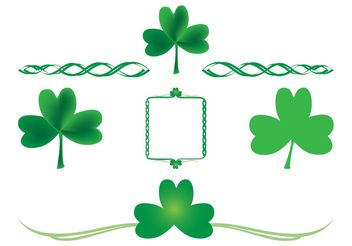Shamrock Designs Set - Free vector #146519
