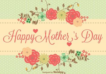 Mother's Day Floral Illustration - vector #146549 gratis