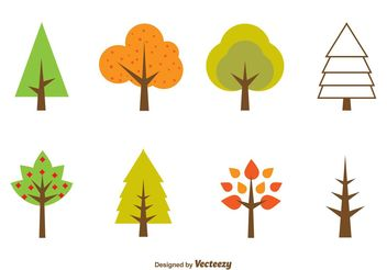 Seasonal Minimal Tree Vectors - Free vector #146609