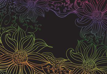 Boho Flowers - vector #146629 gratis