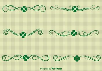 St. Patrick's Day Ornament Vectors - vector gratuit #146699