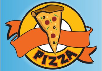 Pizza Logo - vector gratuit #146769