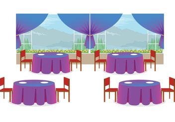 Restaurant Interior Vector - бесплатный vector #146809