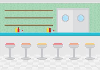 Restaurant Interior Diner - Free vector #146879