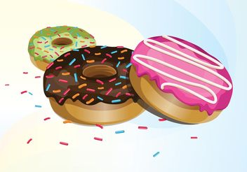 Donut Vectors - Kostenloses vector #147009