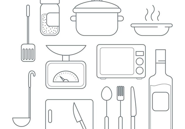 Vector Cooking Icons - Kostenloses vector #147069