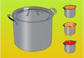 Vector Pots - vector gratuit #147169