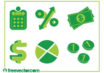 Money Icons - vector #147179 gratis