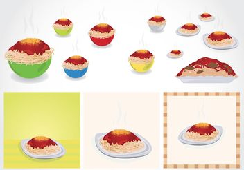 Spaghetti - vector gratuit #147259
