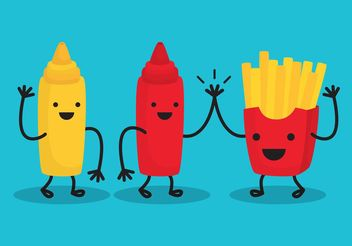 Fries And Friends - vector gratuit #147279
