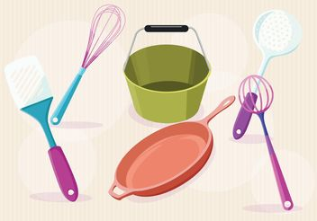 Modern Kitchen Vector Items - Free vector #147329
