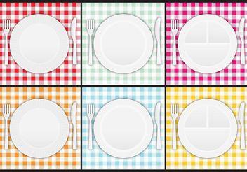 Paper Plate Vectors - Kostenloses vector #147359