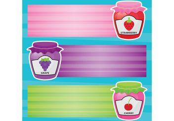 Jam Jars Vector Banners - vector gratuit #147469