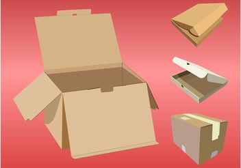 Various Boxes - vector #147509 gratis