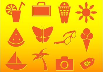 Summer Travel Icons - Free vector #147569
