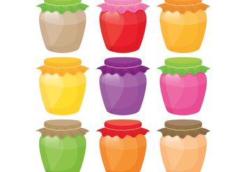 Colouful Jar Vectors - vector gratuit #147589