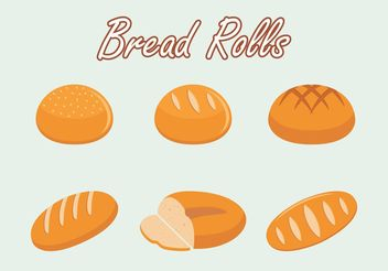Bread Rolls Vector Free - бесплатный vector #147629